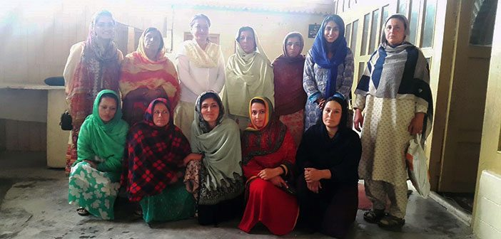 Interviewing people at one of the Women's Organisation (WO) at Karimabad, Hunza.