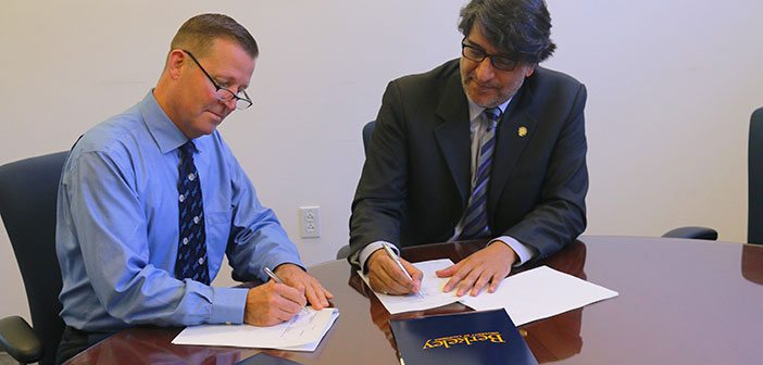 Dr. Darin Menlove, Director Study Abroad at UC Berkeley (Left) and Mr. Wasif Rizvi, President at Habib University (Right).