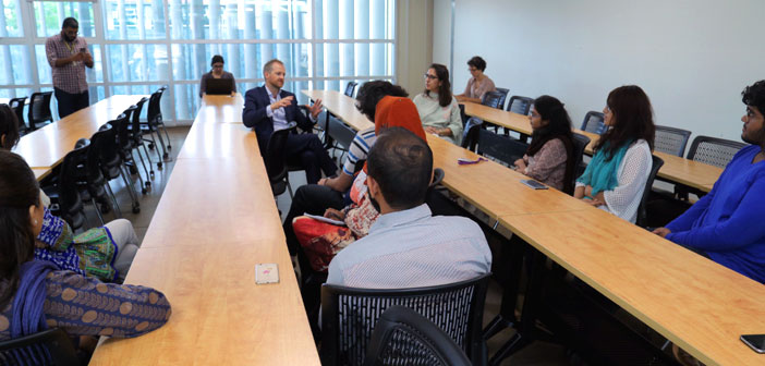 Political Counsellor for the British High Commission, William Middleton engages in an interactive session with HU students