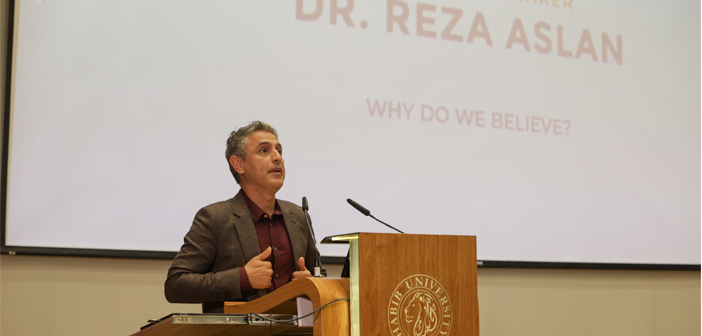 Renowned Scholar Reza Aslan Speaks at Habib University's Yohsin Lecture