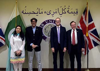 British Deputy High Commissioner Welcomed to HU Campus