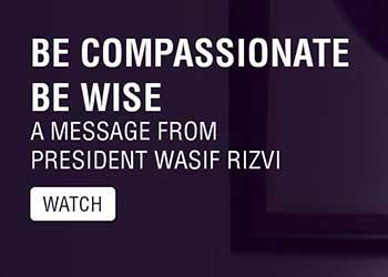 President Wasif Rizvi reassures HU Community during COVID-19 Crisis