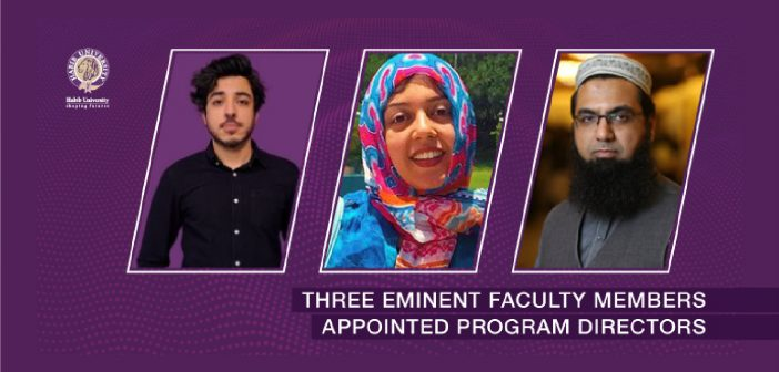 Three Eminent Faculty Members Appointed Program Directors