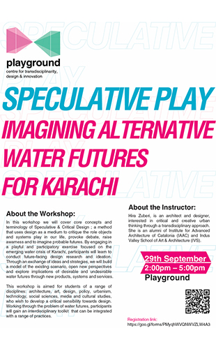 Speculative Play – Imagining Alternative Water Futures for Karachi