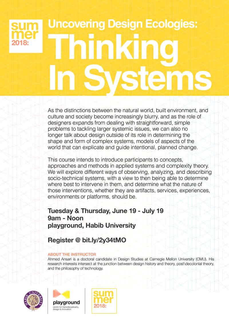 Uncovering Design Ecologies: Thinking in Systems