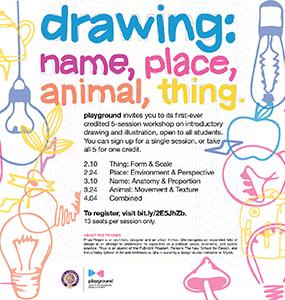 Drawing: Name, Place, Animal, Thing