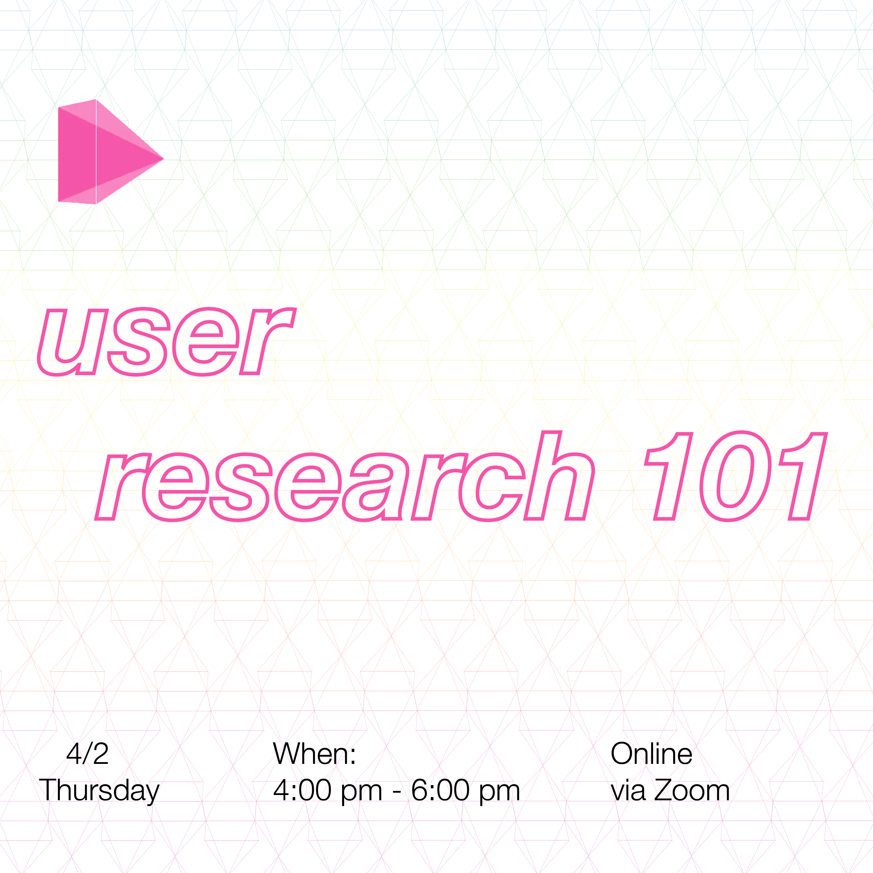 Online Workshop // User Research 101: what, why & how to get started