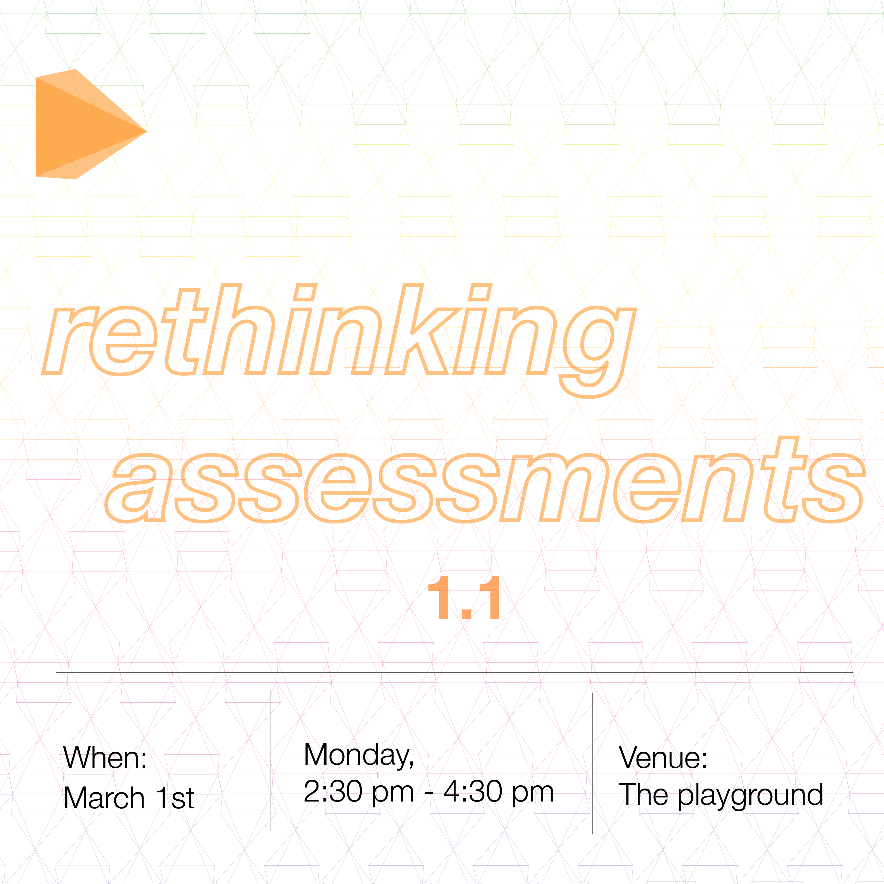 A Design Thinking Workshop on Rethinking Assessments – 1.1