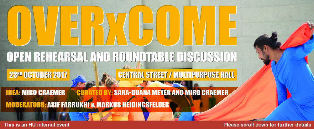 OVERxCOME: Open Rehearsal and Roundtable Discussion