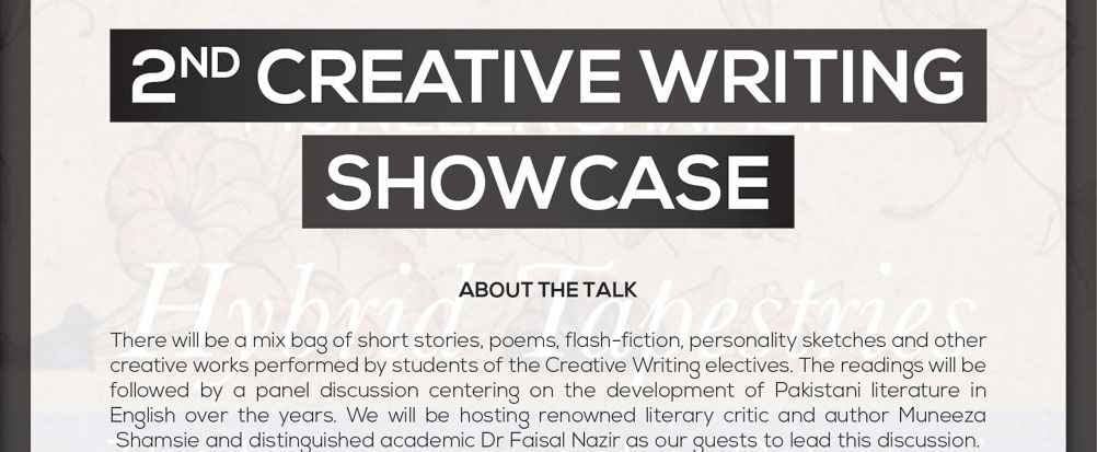 2nd Creative Writing Showcase