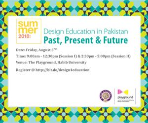 Design Education in Pakistan (Past, Present & Future)